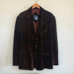Michael Hoban Brown Suede Sport Coat Jacket